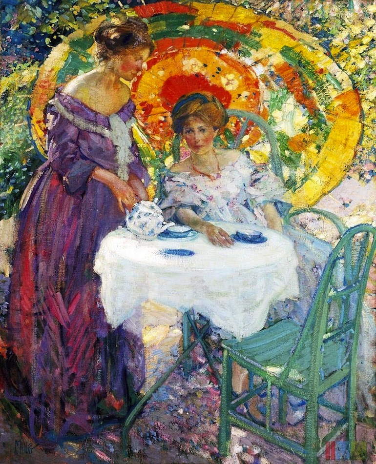 P Richard Edward or Emil Miller (American artist, 1875-1943) Afternoon Tea