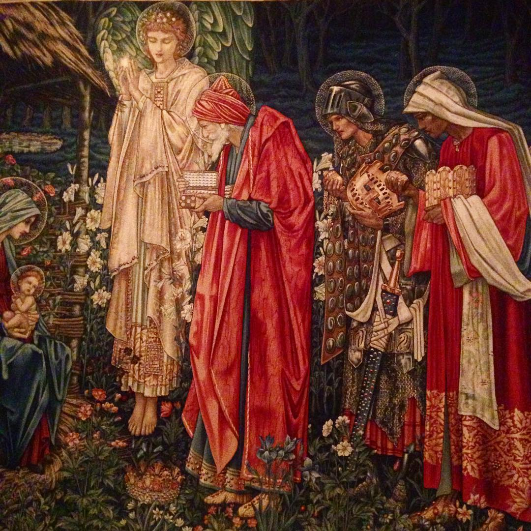 My favorite piece from the YSLBerg collection the BurneJones tapestryhellip