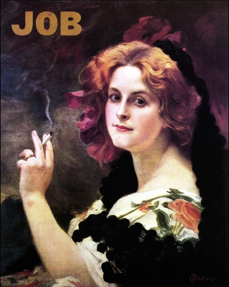 Paul-Jean GERVAIS Poster for Job Cigarette Paper