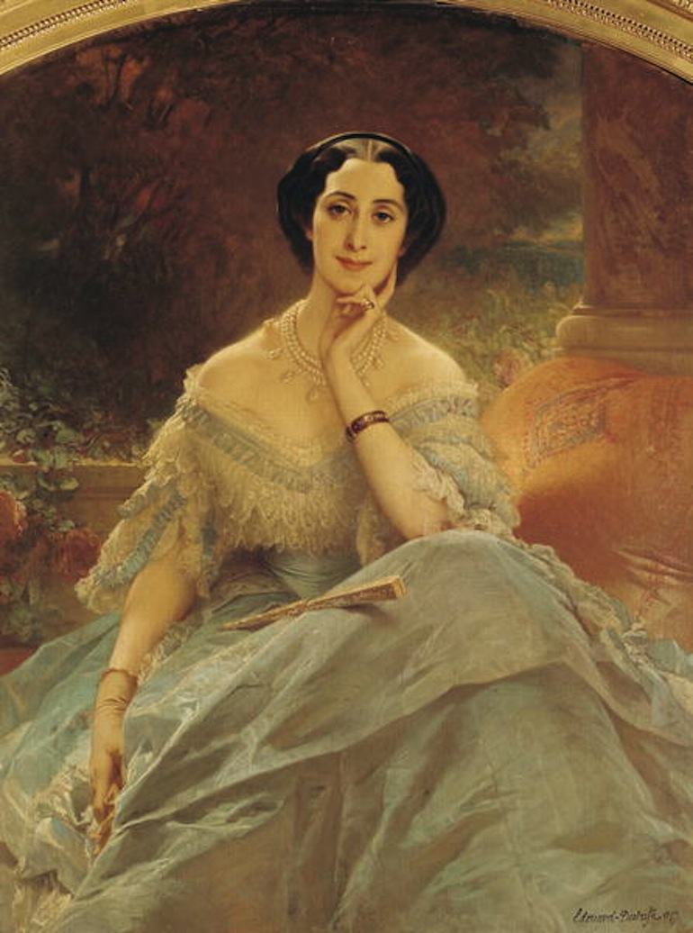 Portrait-of-the-Countess-of-Hallez-Claparede-1857-xx-Edouard-Louis-Dubufe