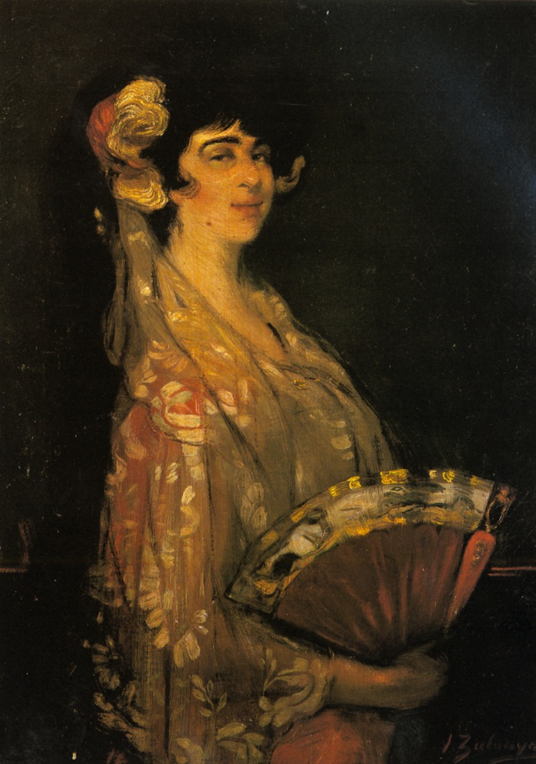 Zuloaga_Y_Zabaleta_Ignacio_An_Elegant_Lady_Fanning_Herself