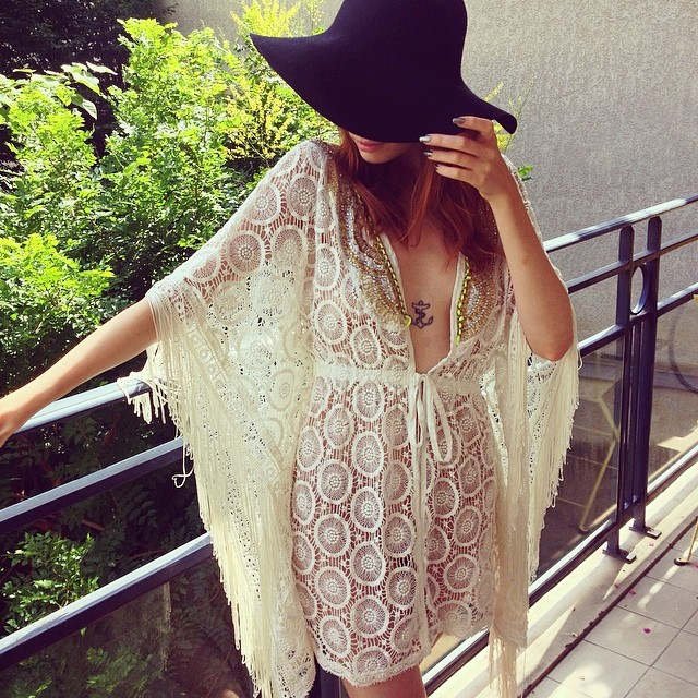Hippie afternoon with my beloved @riverisland kimono
