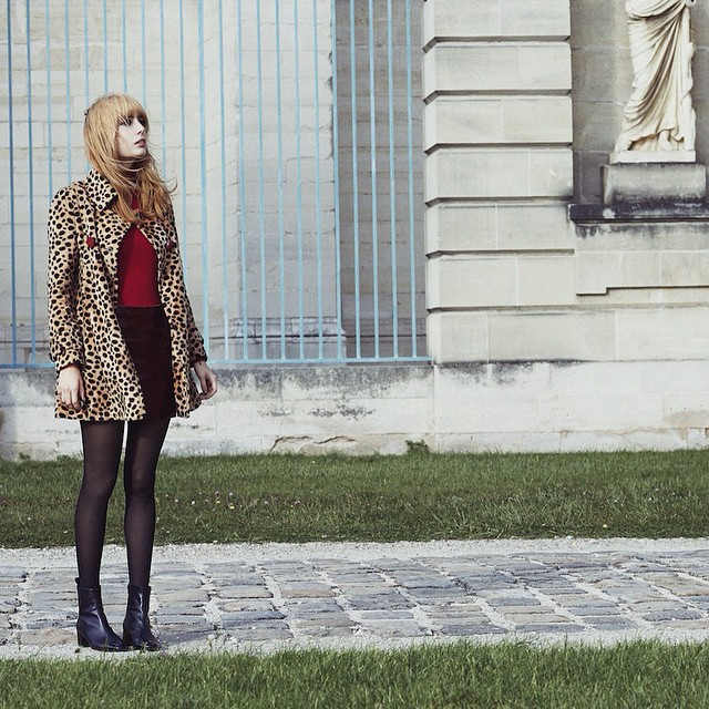 New post !!! www.misspandora.fr (link ? profile ? ) wearing @majeofficiel @carelparis  @wolford fashion