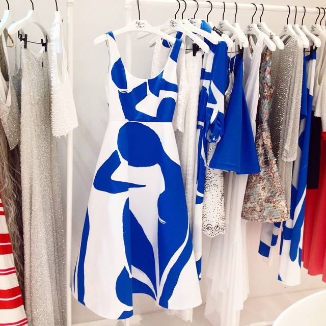 Matisse print at @aliceandolivia showroom ? #aospring15