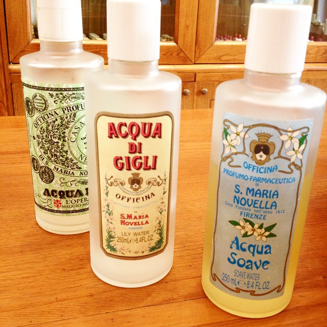 Beautiful Cologne bottles from the roman shop of the famous Florence based brand Santa Maria Novella ?
