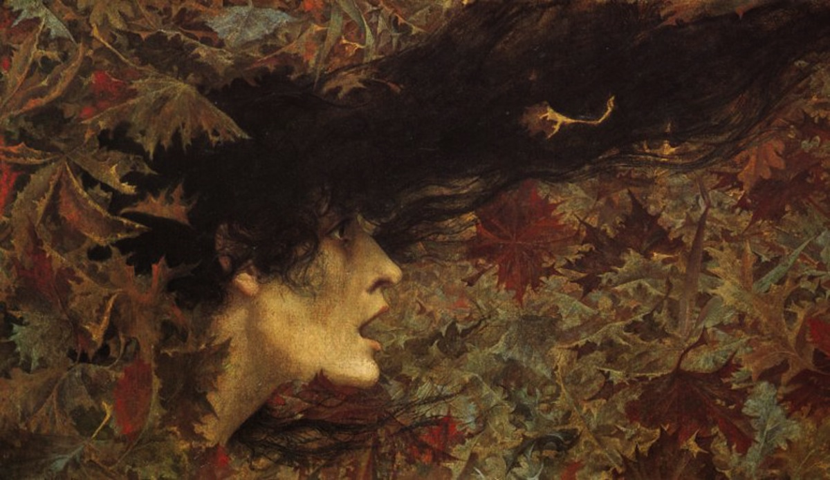 Gust of Wind (1896 - Lucien Levy-Dhurmer)