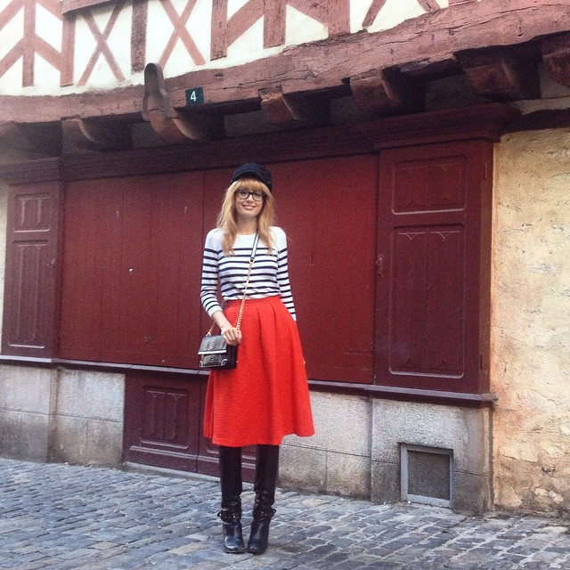 When in Brittany...(wearing @oasisfashion skirt ❤️) ??