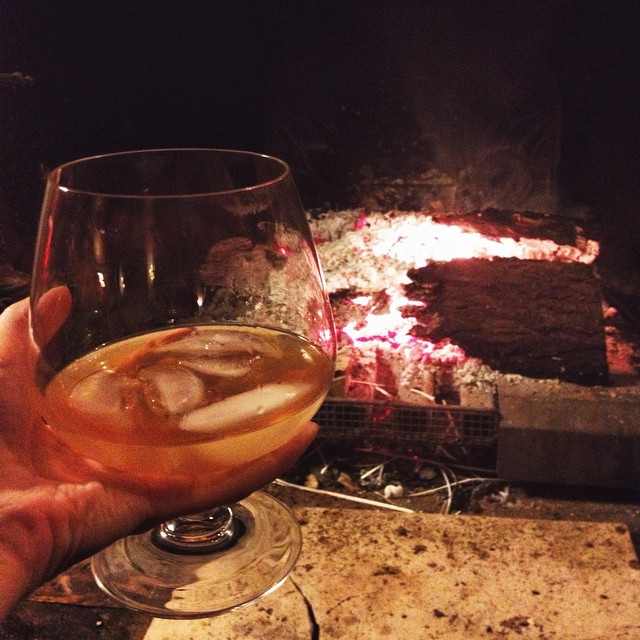 A perfect ending for a perfect evening yesterday : Cointreau Noir by the fire ??