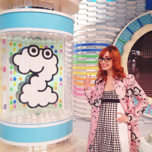 I had an amazing time on Zip! this morning, I hope I can show you the video soon ?? It's the most famous morning show in Japan, and viewed by millions of people there, but I wasnt scared at all, quite the opposite actually, so excited !!! Thank you for having me in the show ! Also, I was wearing the cutest outfit from @dvf spring/summer 15 ??? Thanks Kako for the picture !
