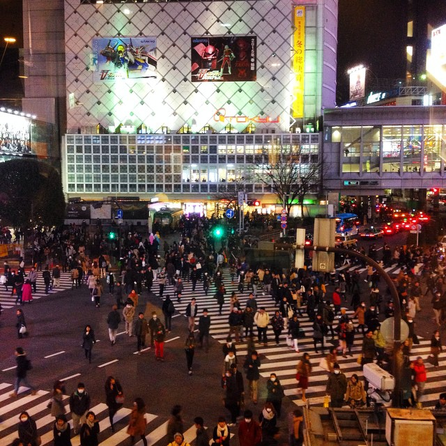 Shibuya crossing by night ?