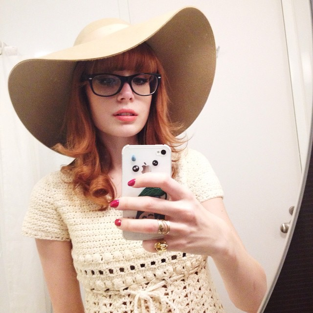 Found this beautiful Pattie Boyd-ish hat a few days ago in Shibuya ! It was love at first sight ! ???