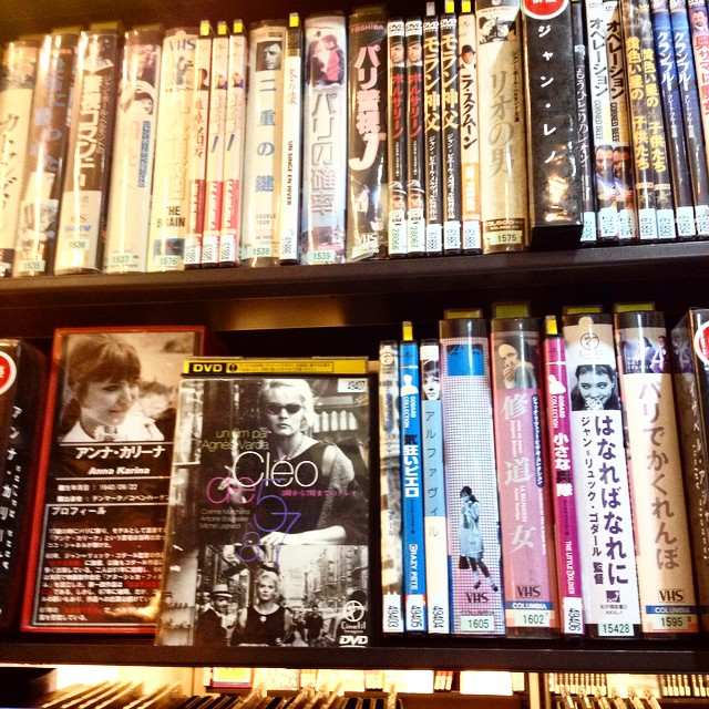 DVD for rent at Shibuya's Tsutaya, they have so many rare movies from the sixties ! Here is the Anna Karina section and they have a documentary called