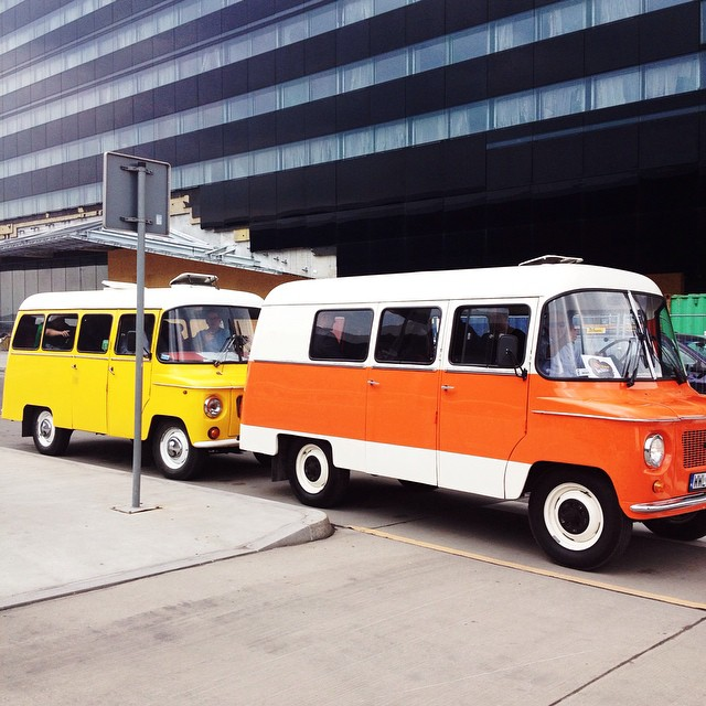 Cute mini buses at the airport ! #fromwarsawwithlove
