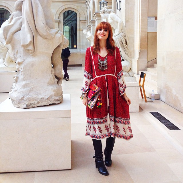 Visiting the Louvre today, it's been a while... Wearing Zara dress, Myla bag and necklace ??
