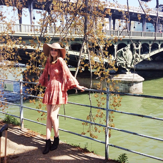 Found this dreamy place near the Eiffel Tower, for our shoot with @freepeopleuk and @paulinedarley ❤️ #frompariswithlove