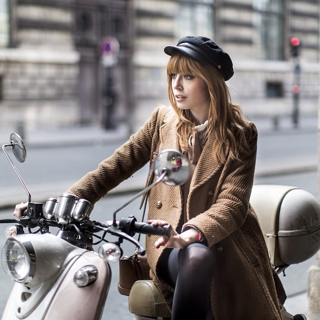 Girl on a motorcycle ! New Post on the blog with Pictures by @audymarchand, and selected inspiration pictures (including a lot of Marianne Faithfull ?) Have a lovely day ?