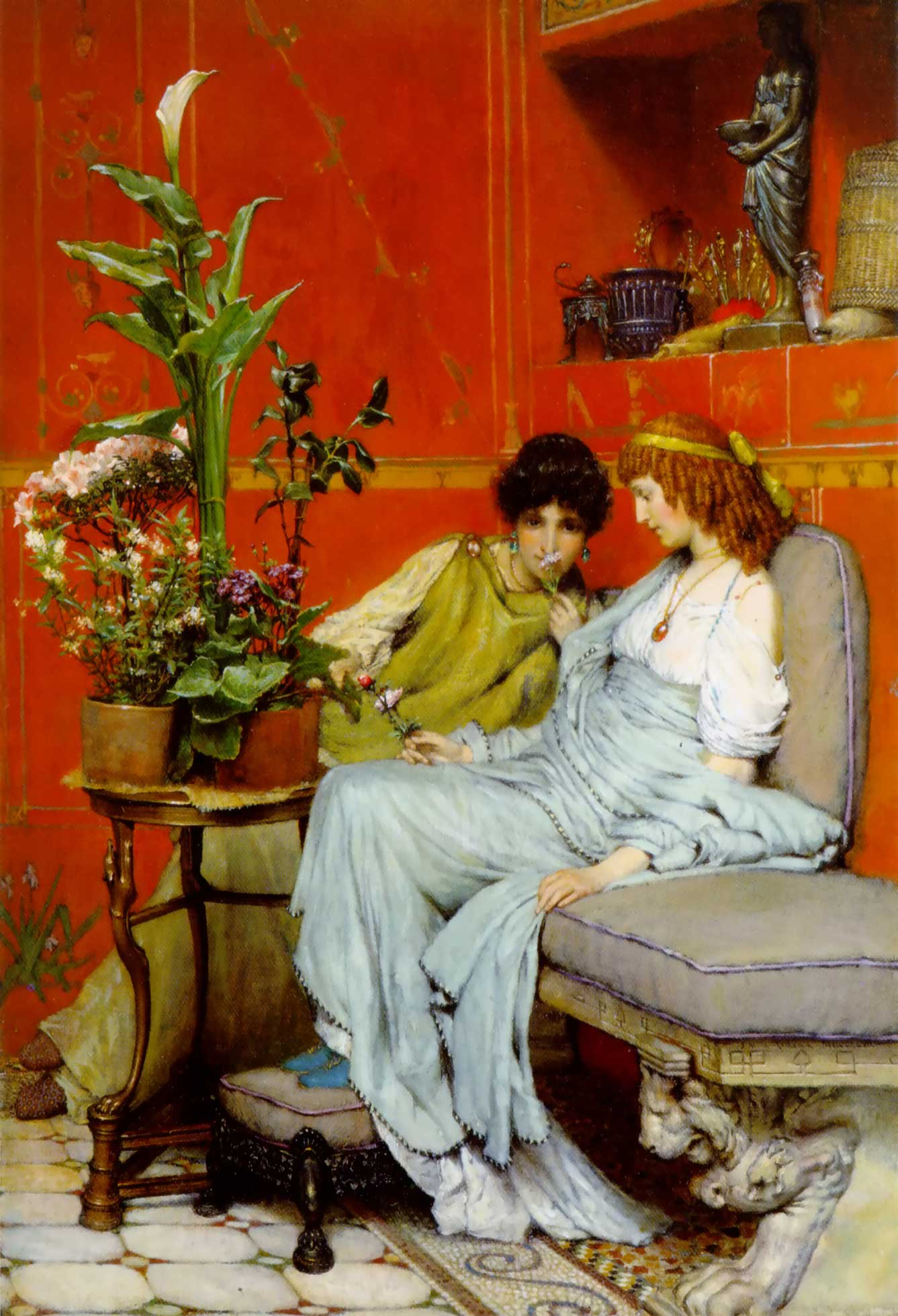 Alma Tadema, Confidences